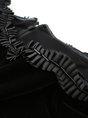 Flounce Cocktail 3/4 Sleeve Velvet Ruffled Sheath Statement Midi Dress