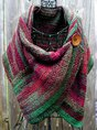 Casual Multicolor Stripes Round Neck Scarve