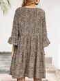 Sundress V Neck Leopard Beach Mini Dress