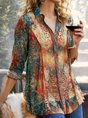 Printed Casual Shirt Floral  Top