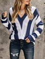 Long Sleeve Knitted Shift Casual Sweater