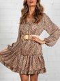 Shift Holiday Leopard Mini Dress