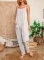 Sleeveless Cotton Pants
