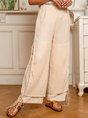 Linen Casual Solid Pants