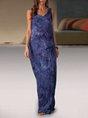 Sleeveless Cotton-Blend Dress