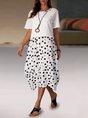 Shift Daytime Dot-Intarsia Midi Dress