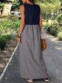 Black Casual Sleeveless Dress