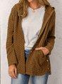 Solid Long Sleeve Hoodie Sweater Cardigan