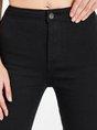 Black Pockets Casual Skinny Leg Pants