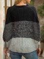 Black Stripes A-Line Casual Crew Neck Sweater