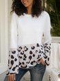 White Leopard Long Sleeve Sweater