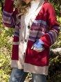 Long Sleeve Casual Plain Cardigan
